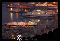 Palermo. Il porto di Palermo, visto dal Monte Pellegrino con teleobiettivo 300mm PALERMO Walter Lo C
