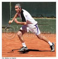 Caltanissetta: Tennis Club Villa Amedeo Caltanissetta. Torneo Internazionale di Tennis Citta' di Caltanissetta FUTURE Xa edizione - 08/16 Marzo 2008, Il tennista Davide Sanguinetti. Foto Walter Lo Cascio    - Caltanissetta (1444 clic)