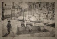 Gagliano Castelferrato: Piazzetta ai Caduti in guerra. Fotoritocco in stile cartolina anni 30.  - Gagliano castelferrato (3426 clic)