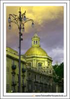 Catania: Cupola Badia di Sant'Agata Secolo XVIII Architetto: G.B. Vaccarini. Foto 2  - Catania (2109 clic)