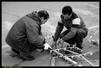 Settimana Santa a Caltanissetta 2009. Giovedi Santo a Caltanissetta. LE VARE. I preparativi dei fuochi pirotecnici. Photo Walter Lo Cascio www.walterlocascio.it  - Caltanissetta (4572 clic)