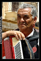 Vizzini: SAGRA DELLA RICOTTA E DEL FORMAGGIO. Edizione 2007.Suonatore di fisarmonica con abiti folkloristici siciliani.  - Vizzini (1445 clic)