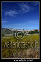 San Cataldo. Campagna di San Cataldo. Sullo sfonfo il paese. Foto Walter Lo Cascio www.walterlocasc