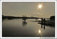 Regalbuto: Lago di pozzillo. Tramonto al lago.  - Regalbuto (2375 clic)
