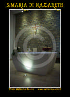 San Cataldo (CL).  COMPLESSO PARROCCHIALE S.MARIA DI NAZARETH. Interno, navata principale. Altare. Photo Walter Lo Cascio www.walterlocascio.it  - San cataldo (4345 clic)