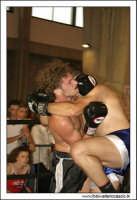 Agira, Giugno 2005. Incontro di Kick Boxing. Durante il combattimento.  - Agira (1944 clic)