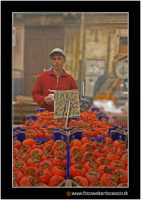 Catania: A fera u luni. Bancarella di cachi, o loti, o come dice il commerciante in foto KAKI!  - Catania (2266 clic)