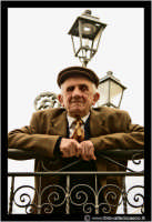 Cerda: Sagra del Carciofo 25 Aprile 2005. Anziano uomo cerdese.  - Cerda (3271 clic)