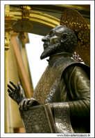 Agira, Agosto 2005. Festa del Patrono di Agira, San Filippo. Particolare della statua di San Filippo.  - Agira (2150 clic)