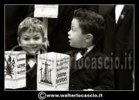 Caltanissetta: Settimana Santa a Caltanissetta edizione 2008. Mercoledi' Santo a Caltanissetta. Il Capitano della Real Maestranza. I bambini della Real Maestranza di Caltanissetta.  - Caltanissetta (1522 clic)