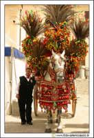 Cerda: Sagra del Carciofo 25 Aprile 2005. Carretto siciliano e uomo con abito folkloristico siciliano.  - Cerda (4998 clic)