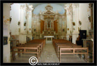 Agira. Chiesa di San Giuseppe. Interno. Chiesa ad un'unica navata.  - Agira (1961 clic)