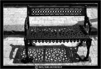 Agira. Quartiere Santa Margherita. Panchina e ombra.  - Agira (1869 clic)