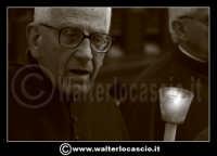 Caltanissetta: Settimana Santa a Caltanissetta edizione 2008. Mercoledi' Santo a Caltanissetta. Il Capitano della Real Maestranza. Padre Modica.  - Caltanissetta (1606 clic)