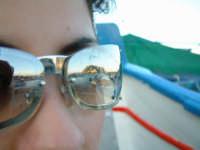 Riflesso su lente delle barche a Mondello.  - Mondello (2445 clic)