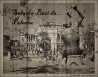 Palermo: Colpo di martello al Politeama, Post Card. Ho rielaborato la foto precedente in una versi