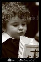 Caltanissetta: Settimana Santa a Caltanissetta edizione 2008. Mercoledi' Santo a Caltanissetta. Il Capitano della Real Maestranza. I bambini della Real Maestranza di Caltanissetta.  - Caltanissetta (1492 clic)