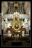 Troina: cattedrale Maria Santissima Assunta ( 1065/1078 ): Interno: Cattedra vescovile Lignea in stile tardo barocco.   - Troina (3439 clic)