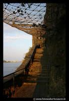 Acicastello: LA scalinata per accedere al Castello.  - Aci castello (1813 clic)