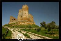 Mazzarino. Castello di Mazzarino. Su tutte le mappe, il Castello di Mazzarino è definito Castelvecchio. Anzi, in qualcuna, con superflua e sgradevole ripetizione, Castello Castelvecchio. A tutti i Mazzarinesi, pero', il Castello e' noto come U CANNUNI, con l'unica torre cilindrica, quasi cannone, che si erge impettita verso il cielo. - Reportage sui Castelli della Provincia di Caltanissetta -  - Mazzarino (4258 clic)