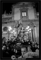 Leonforte. 19 Marzo 2006. Festa di San Giuseppe. Protettore di Leonforte. La processione del Santo. Fedeli portano il Santo a Spalla.   - Leonforte (3659 clic)