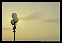 Enna: Lampione al tramonto. ENNA Walter Lo Cascio