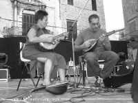 Musicanti siciliani in Piazza Bologni in occasione della Festa di Santa Rosalia. Luglio 2003  - Palermo (2869 clic)