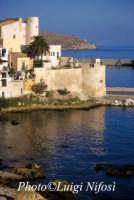 vista sul golfo di Castellamare - La bellissima vista da petrolo al Castello in Marina  - Castellammare del golfo (2216 clic)