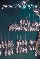 veduta aerea di barche alla fonda nella cala PALERMO Luigi Nifosì