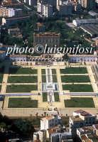 veduta aerea della zisa, in primo piano i giardini  PALERMO Luigi Nifosì