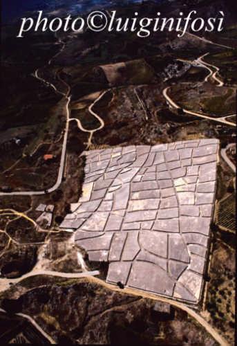 vista aerea del cretto di Burri - GIBELLINA - inserita il