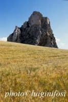 campo di grano e la rocca del castello  - Mussomeli (3345 clic)
