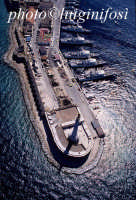 veduta aerea della banchina con la madonnina  - Messina (3937 clic)