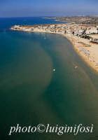 il mare e la spiaggia di sampieri in una veduta aerea  - Sampieri (7948 clic)
