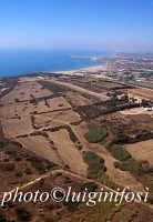 veduta aerea dell'area archeologica  - Camarina (3410 clic)