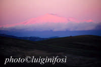 l'etna al tramonto vista da piazza armerina   - Etna (3377 clic)