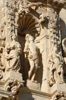 la chiesa di san sebastiano, particolare del prospetto  - Ferla (1529 clic)