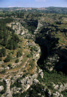 veduta aerea della cava nord che guarda sortino  - Pantalica (5259 clic)