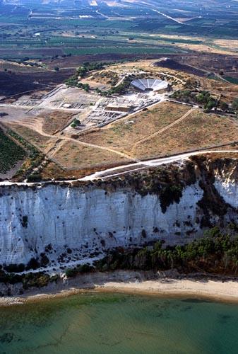 veduta aerea della costa e del sito greco di eraclea minoa - ERACLEA MINOA - inserita il