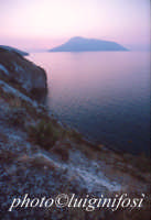 salina vista da lipari al tramonto  - Salina (3953 clic)