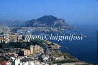veduta aerea del porto e di monte pellegrino  - Palermo (4469 clic)