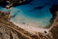 la spiaggia di isola dei conigli vista dall'alto  - Lampedusa (4449 clic)