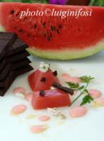 un piatto a base di melone e cioccolata modicana dello chef Ciccio Sultano  - Ragusa (3916 clic)
