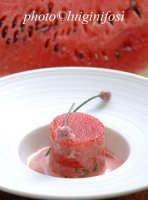 un piatto a base di melone e pesce dello chef Ciccio Sultano  - Ragusa (3874 clic)