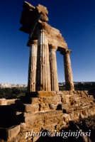 valle dei templi, resti del tempio dei dioscuri  - Agrigento (2125 clic)