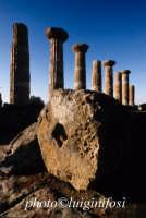 valle dei templi, resti del tempio di ercole  - Agrigento (1958 clic)