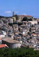 vista del nucleo urbano e del castello  - Cammarata (5785 clic)