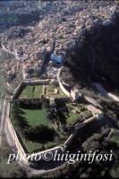 veduta aerea del castello di lombardia e della città  - Enna (7451 clic)
