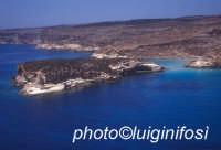 l'isola dei conigli vista dall'alto e dal mare  - Lampedusa (2764 clic)