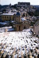 ragusa ibla dopo la neve RAGUSA Luigi Nifosì